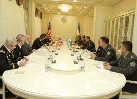 Американская военная делегация в Ташкенте