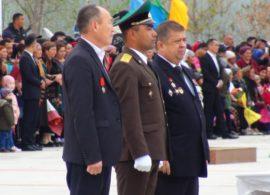 Ветераны на принятии присяги молодыми пограничниками